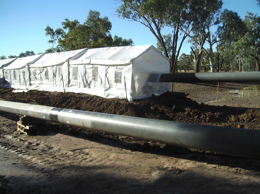 AsClear blasting and coating on-site