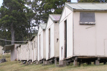 AsClear - Asbestos removal - huts ready to have asbestos removed